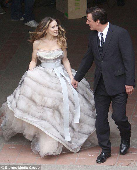 Carrie en su boda