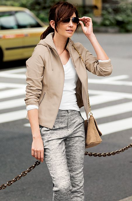 ラムレザーのフード付きジャケット♡レディースジャケットのトレンド参考まとめ♪