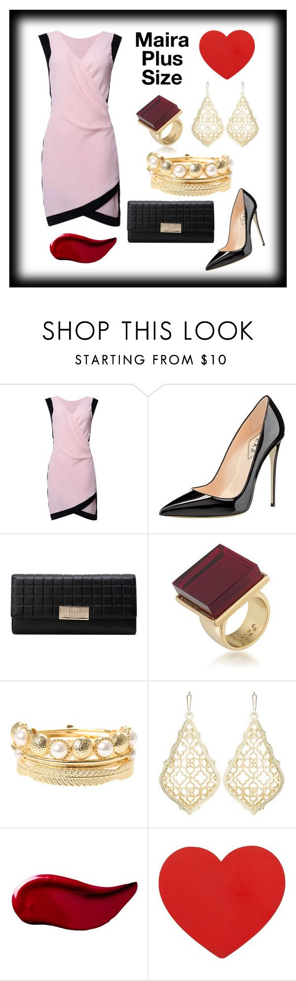"""""""Maira's Date Look"""" by mairaplussize ❤ liked on Polyvore featuring Trina Turk, Kendra Scott and Kat Von D"""