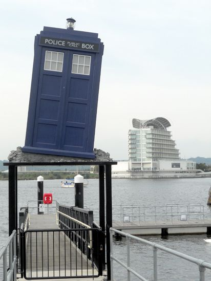 Tardis in Cardiff Bay, a permanent feature! Cardiff, South Wales, UK