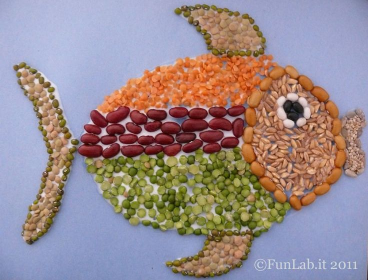 Cute fish ...ready for summer?  http://blog.funlab.it/en/2011/05/back-to-the-basics-with-seed-mosaics/
