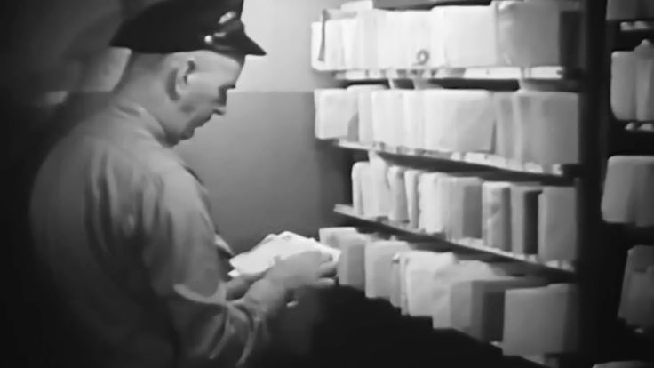 "Mail Carriers: ""Mailman"" 1946 Encyclopaedia Britannica Films; How US Mail Was Sorted, Delivered https://www.youtube.com/watch?v=lNAgx_pR_6E #USPS #mail #history"