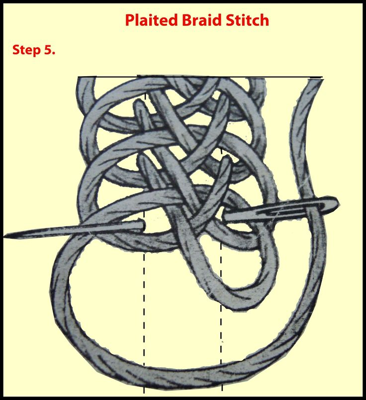 Craft Ideas: Plaited Braid Stitch