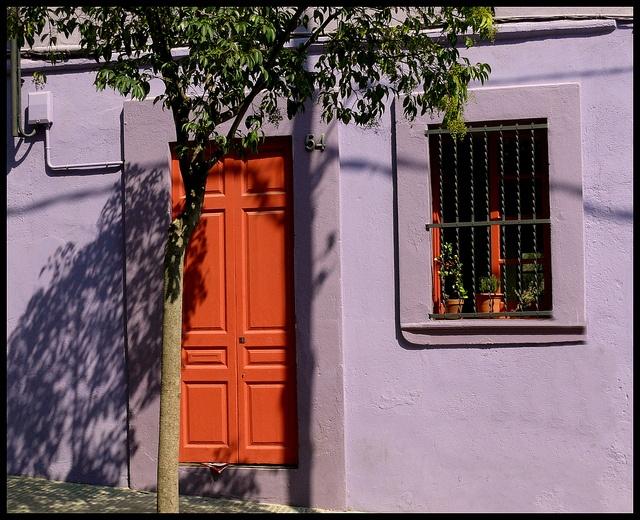 The orange door.