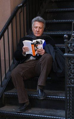 Dustin Hoffman reading... Wonderfully familiar actor of my adulthood . . . He's only a few years older than me.
