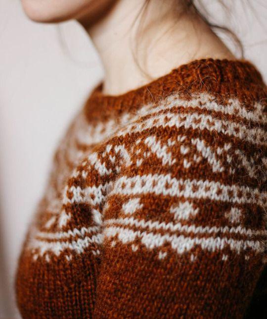 Burned orange sweater