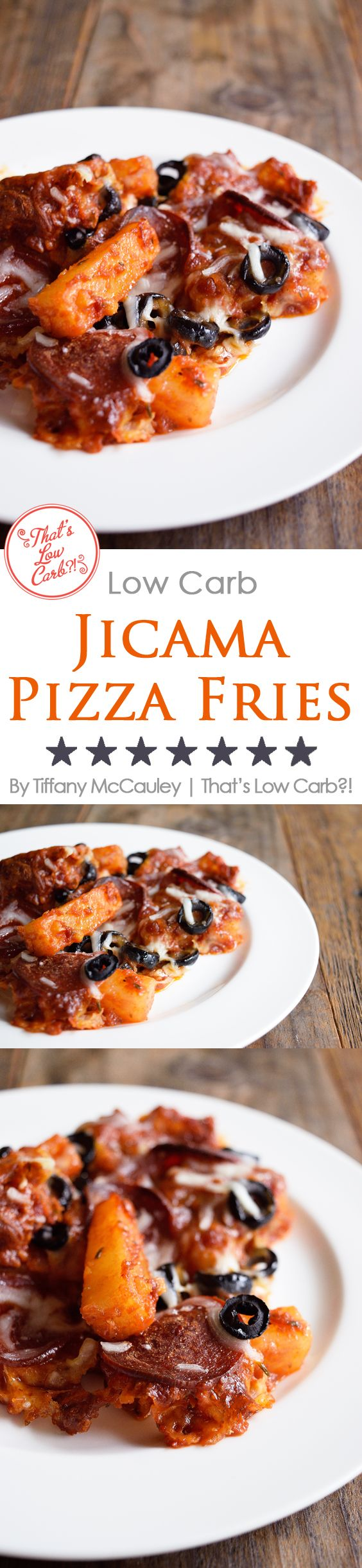 Low Carb Recipes | Pizza Fries | Jicama Fries | Recipes ~ https://www.thatslowcarb.com