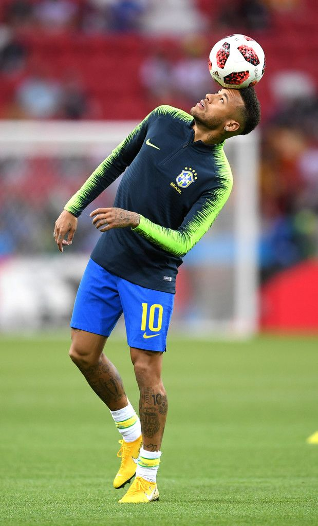 54f6e32f25d1 Neymar Jr of Brazil warms up prior to the 2018 FIFA World Cup Russia  Quarter Final match between Brazil and Belgium at Kazan Arena on July 6