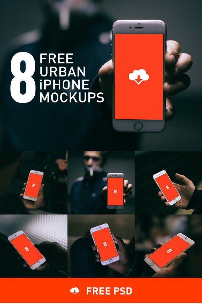 8 Free Urban iPhone 6 Mockups by COBE