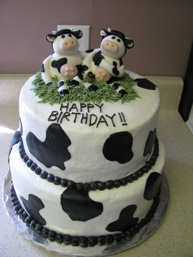 Happy Birthday Images Cow Cakes Cow Birthday Cake