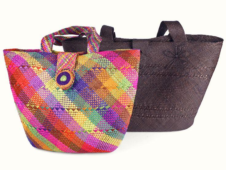 Bolso Mediano Iraca - Catálogo de Productos - Artesanías de Colombia