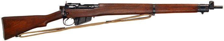 Lee-Enfield No.4 Mk.I - .303 British. This was the main battle rifle of British and Commonwealth forces during World War Two, however, it was supplemented heavily with the older Lee Enfield No.1 MK.III. First placed in service with the British military in 1941.