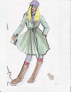 Laura Volpintesta, fashion design illustration from live model#online fashion illustration and design INTENSIVE immersion course experience! Check it out!! I'm here for you. $750 tuition for a limited time includes your art supplies for fashion designers kit shipped to you. 15 week online semester created by Parsons fashion faculty of 17 years.
