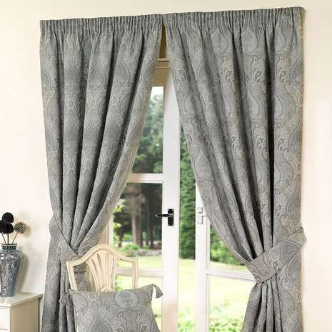 Featuring a jacquard design with a subtle pattern and a traditional pencil pleat header, our duck-egg blue curtains are crafted from a cotton blend and availabl...