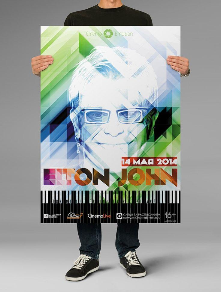 elton john poster design