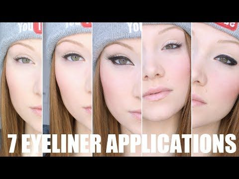 Seven Different Eyeliner Application Tutorial - YouTube