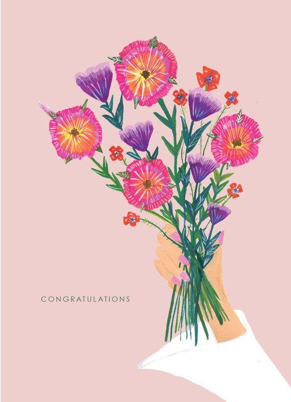 Wedding Flower Car Card by Hutch Cassidy