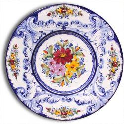 Portuguese majolica painted plate www.MadamPaloozaEmporium.com www.facebook.com/MadamPalooza
