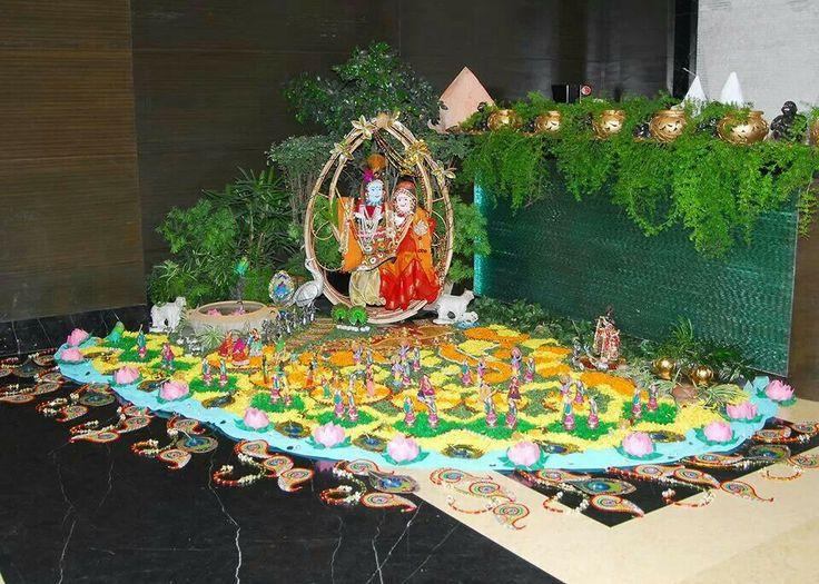 Flower Ideas For Home Decoration: Janmashtami