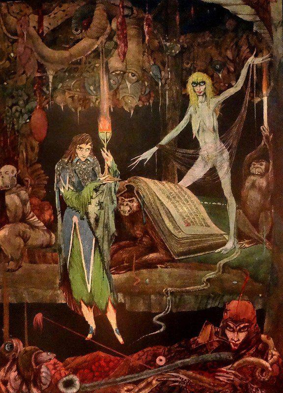 "Гарри Кларк. Иллюстрации к ""Фаусту"" Гете (1925)"