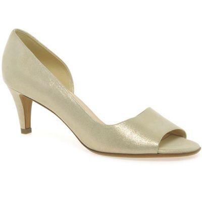 Peter Kaiser Light gold 'Jamala II' womens open toe court shoes- at Debenhams.com