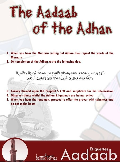 Aadaab of the Adhaan