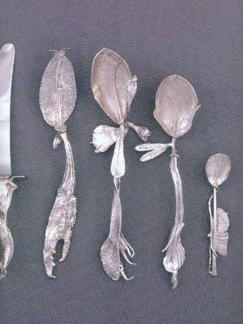 beautiful silver spoons …