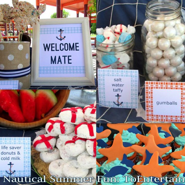 1st Birthday Party: Nautical Summer Fun For Clark