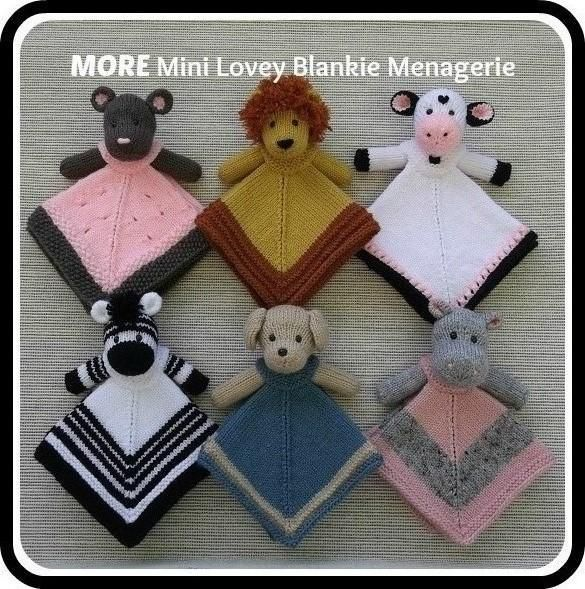 MORE Mini Lovey ... by Rainebo | Knitting Pattern - Looking for a knitting pattern for your next project? Look no further than MORE Mini Lovey Blankie Menagerie from Rainebo! - via @Craftsy