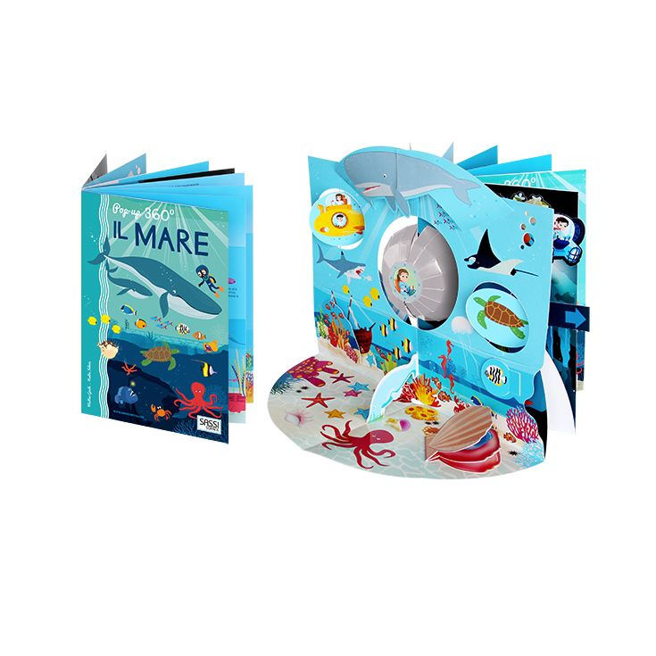 #Sassi Junior - Sassi Science: Popup 360°. Il Mare - Libro di 8 pagine + popup che si apre a 360°. #ecologia #libro #gioco