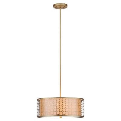 Giotta Drum Pendant Light - Safavieh, Gold