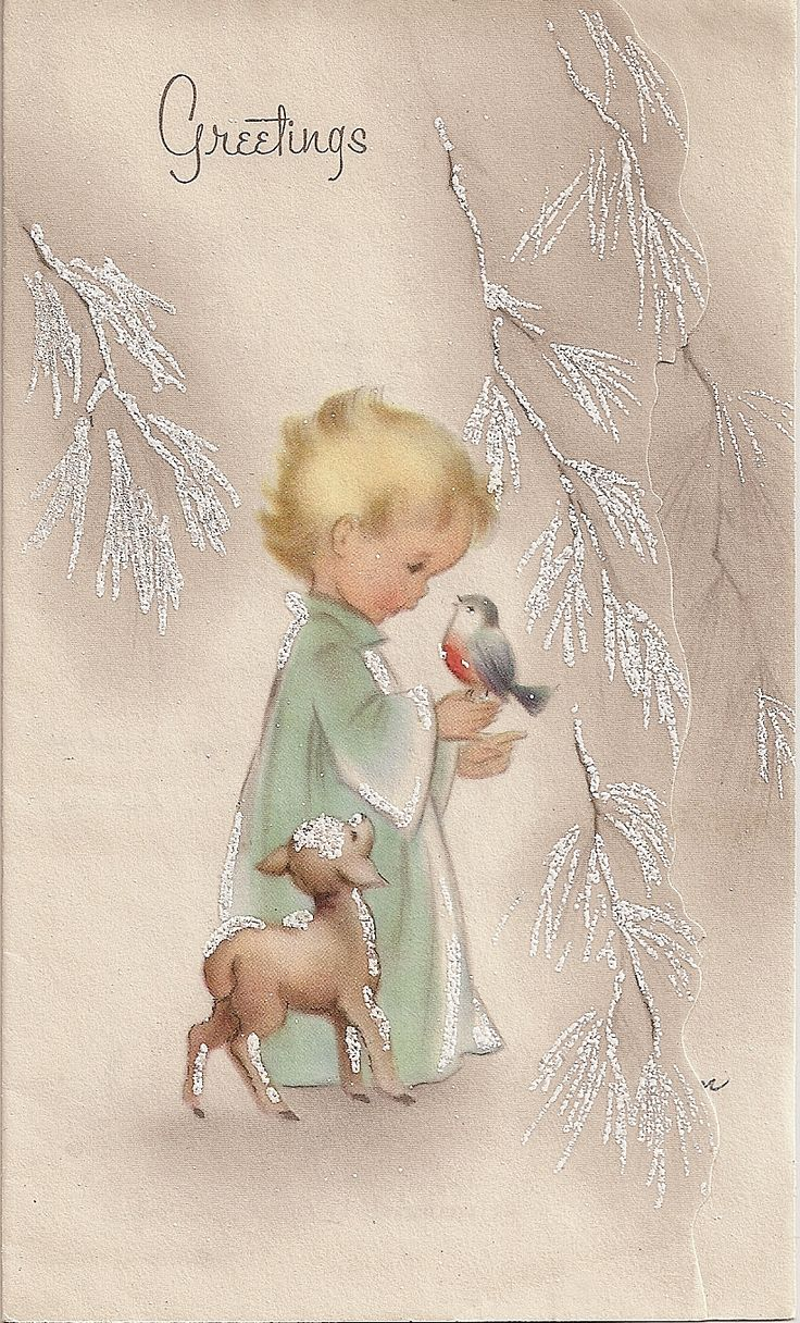 Freebie For You - Vintage Christmas Card