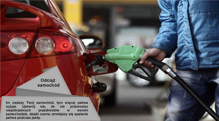 Nie przeciążaj samochodu Wyładuj wszystkie niepotrzebne rzeczy. Dodatkowe 45 kilogramów w swoim samochodzie zmniejszy efektywność spalania paliwa nawet o 2 procent. #oponaletnia