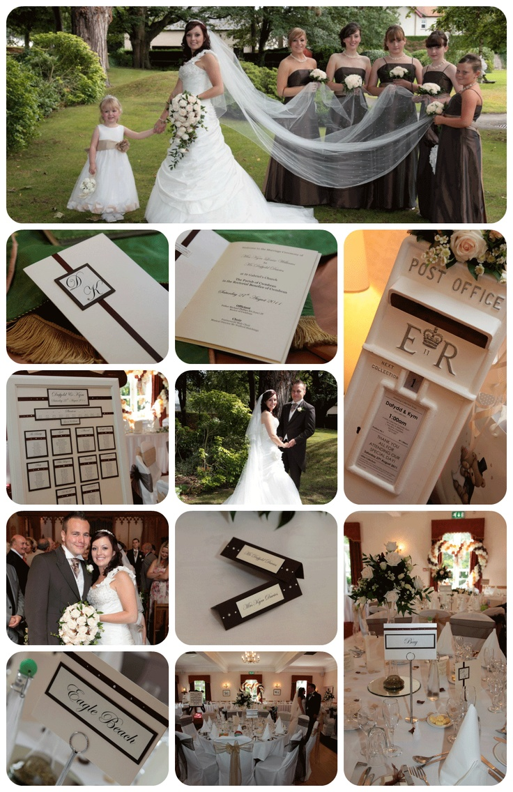 Chocolate brown wedding - Real White Crafts Brides