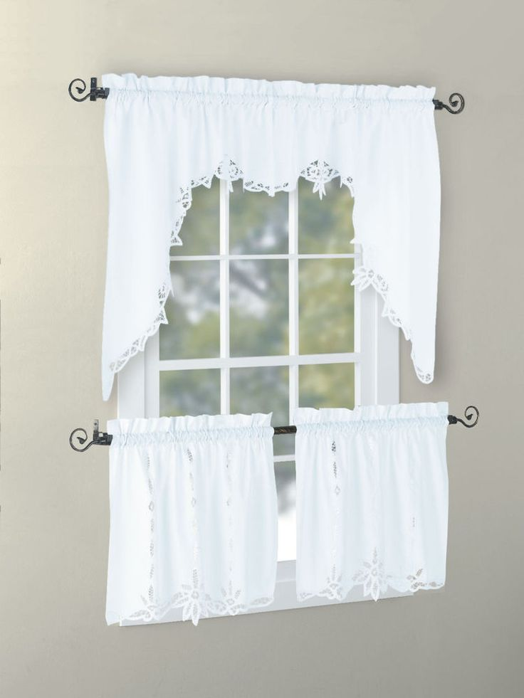 battenburg lace valance swag tier white ecru lace home and walmart