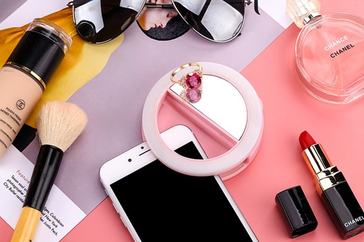 >> Click to Buy << XJ-06 40 led usb rechargeable selfie light mirror selfie ring light smart stepless adjustable for samsung iphone any smartphone #Affiliate