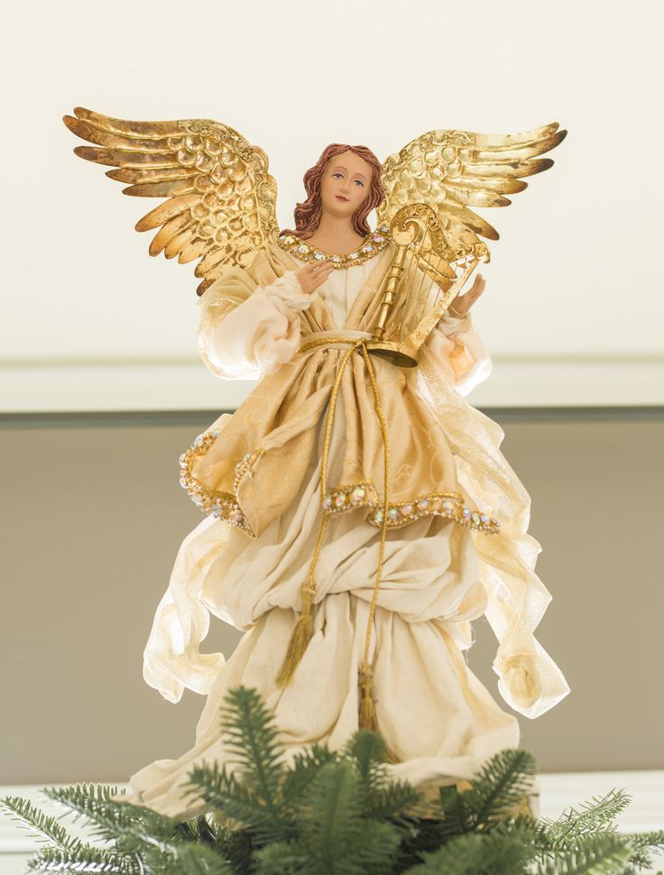 Gold Angel Tree Topper | Balsam Hill Australia