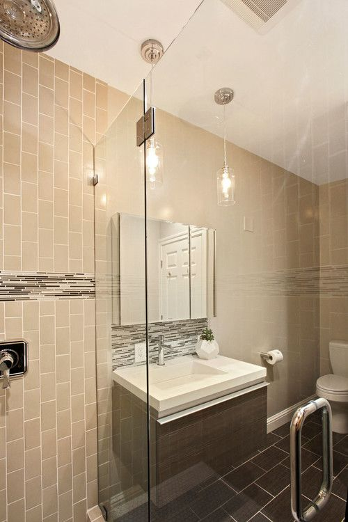 Walker Zanger 6th Avenue Subway Tile In Fog In Bathroom By