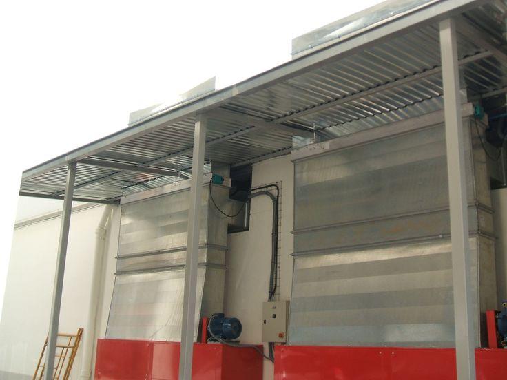 Conductos de ventilación para cabinas de pintura.