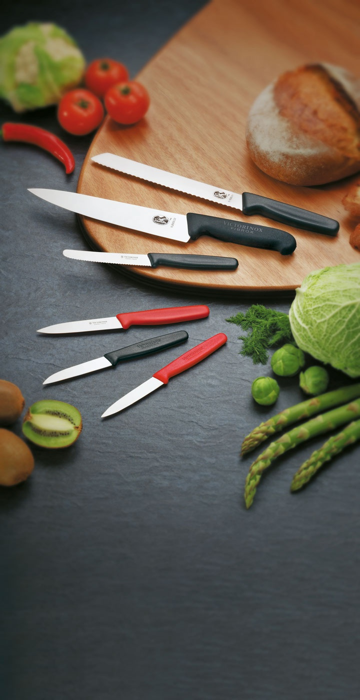 Cuchillo Pan Dentado, Pelador de Verduras y Cocina Ancho, Victorinox