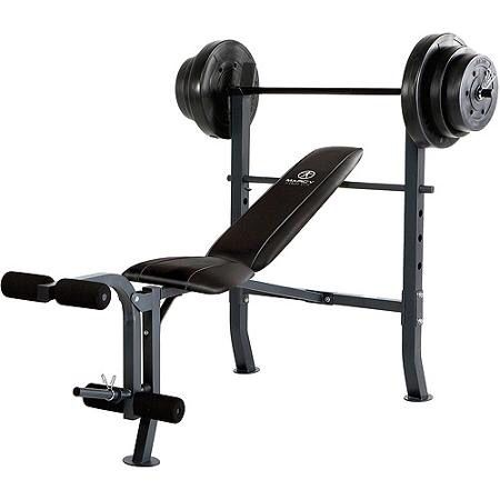 Weight bench - so I can lift at home.  Find a cheap one at a thrift store or a gym throw-away.