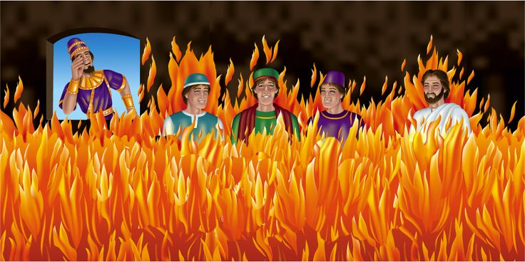 Nwbuchadnezzar Sees The Three Men And An Angel In The Fire