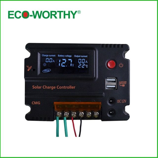 20a Solar Charger Controller 3a 5v Usb Output Voltage Solar Panel Battery Solar Solar Charger