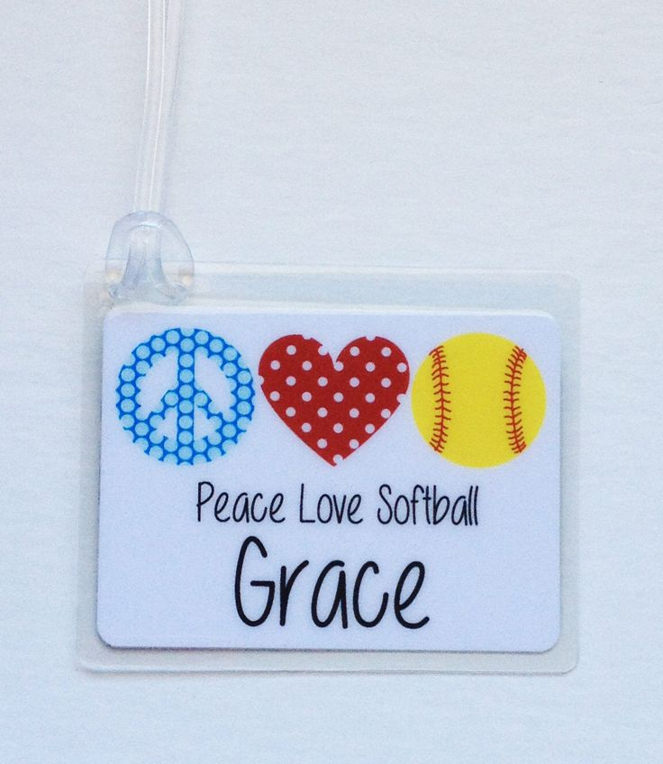 Softball Bag Tag Softball Party Favor Softball Girl Gift Softball Gift Softball Team Gift Softball Mom Gift Bat Bag Tag Softball Gift by Toddletags on Etsy https://www.etsy.com/listing/167862283/softball-bag-tag-softball-party-favor