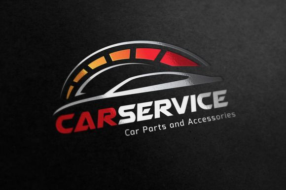 Car Service Logo by Super Pig Shop on Creative Market