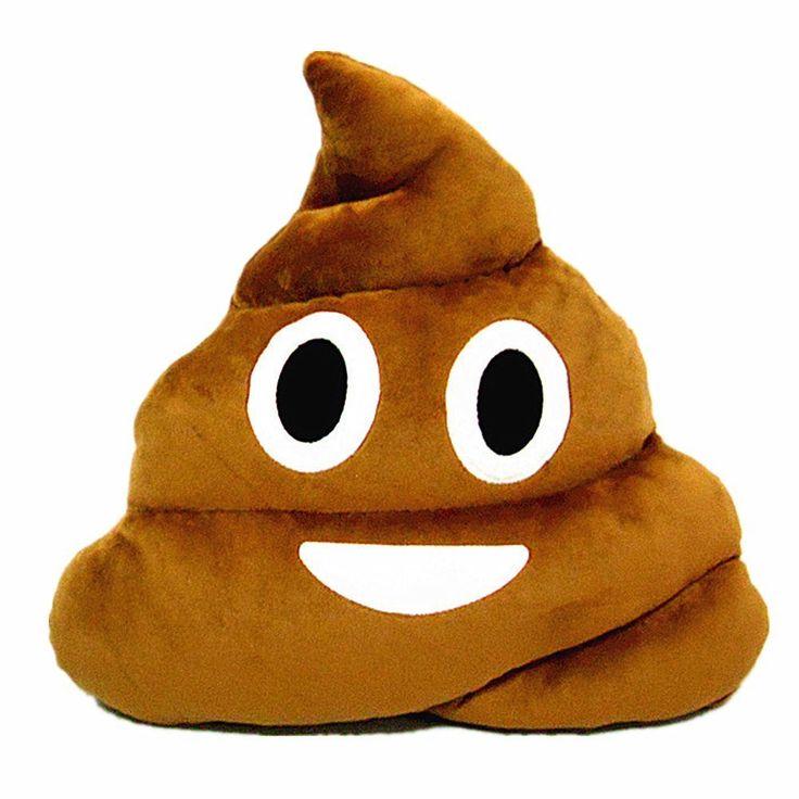 Emoji Pillow - Poo plush toy cushion (Round eyes)