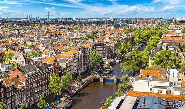 جولة للتعرف على الوجه الحقيقي لأمستردام Amsterdam Netherlands Aerial View