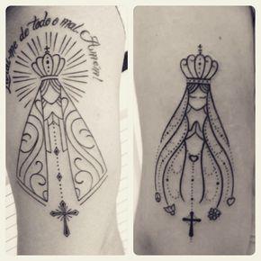 Resultado de imagem para tatuagens nossa senhora
