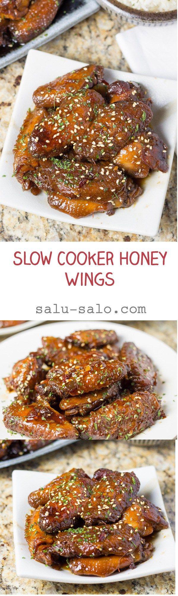 Slow Cooker Honey Wings