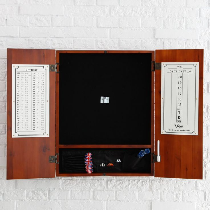 Metropolitan Dart Board Solid Wood Cabinet for Bristle Dart Boards